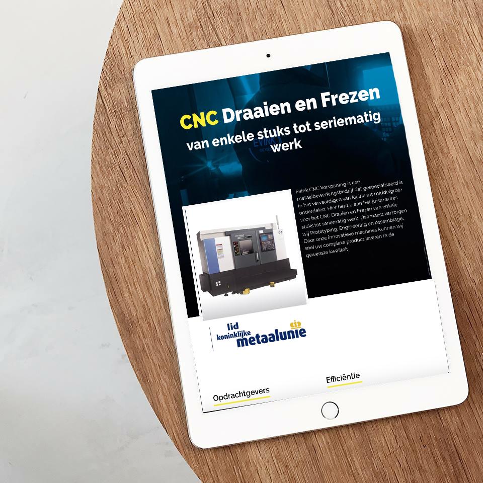 0. Mockup website_Evink CNC