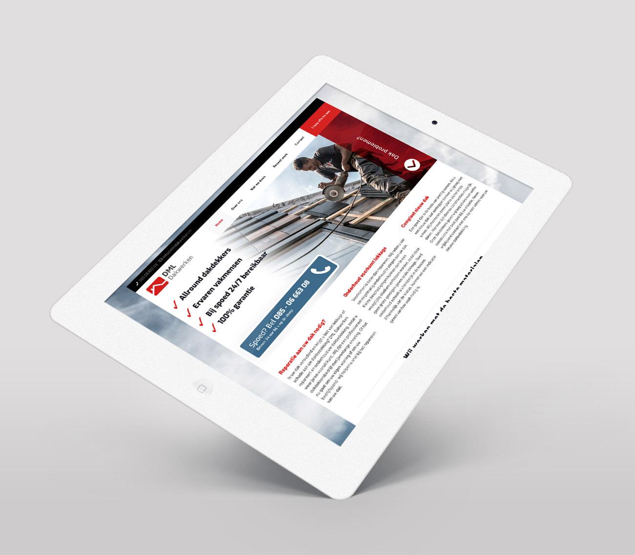 DML Dakwerken Webdesign