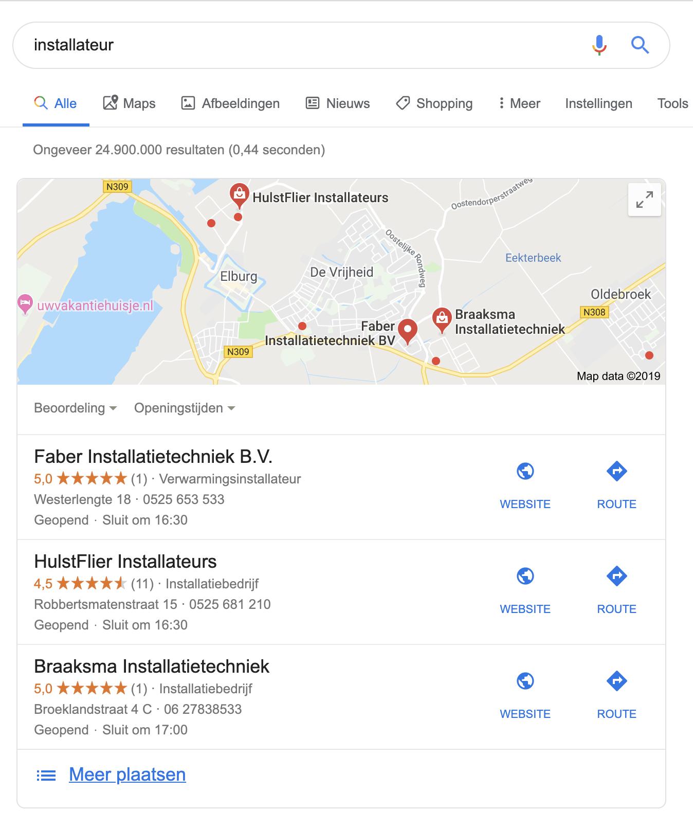 local pack google mijn bedrijf